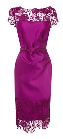 Belted duchess satin dress by Coast