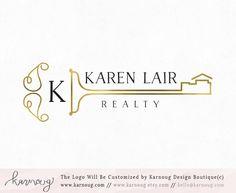 Real Estate Logo|Realtor Logo|House Logo|Key Logo|Gold Logo|Premade Logo|Watermark Logo|Business Logo|Branding Logo|digital logo|Logos by karnoug on Etsy