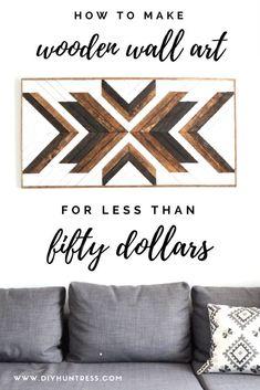 diy holz Learn how to make a large DIY Wood Art Pi - Diy Wood Wall, Wooden Wall Art, Diy Wall Art, Wooden Diy, Wood Art, Wood Wood, Painted Wood, Wood Wall Art Decor, Raw Wood