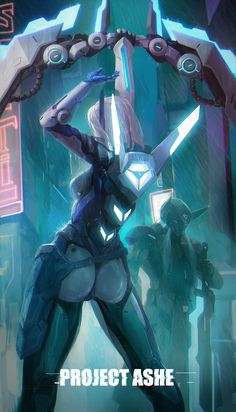 League of Legends - Project Ashe Lol League Of Legends, Draven League Of Legends, League Of Legends Characters, Project Ashe, Lol Champ, Arte Cyberpunk, Cyberpunk Character, Overwatch Fan Art, The Legend Of Heroes