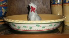 Merriweather Christmas Pie Plate with Sheep Vent