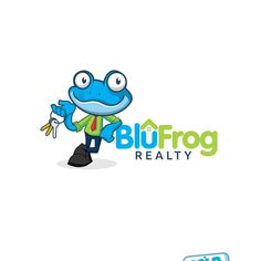 Where is the blu frog? Realty company needs a eye cachting blu frog chararter by De Luffy's