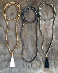 Long Beaded Double Wrap Choker Collar Necklace with by gavinaandjo                                                                                                                                                                                 More