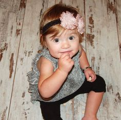 Such a fashionable and adorable baby!