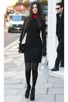 How To Make An Entrance (& Exit) Like Selena Gomez #refinery29  http://www.refinery29.com/selena-gomez-style-pictures#slide-30  And here, your answer to a swift cold-weather styling move....