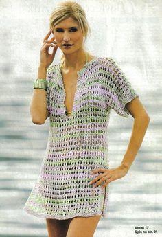 """Casos y Cosas de Mi Casa"""": Cubre traje de baño tejido en tricot o ..."""