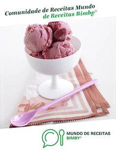 Gelado de morango de Equipa Bimby. Receita Bimby<sup>®</sup> na categoria Sobremesas do www.mundodereceitasbimby.com.pt, A Comunidade de Receitas Bimby<sup>®</sup>.