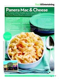 Panera Mac & Cheese. now if someone could find the recipe for their black bean soup, i would be set. you should try them together.... like take a bit of mac & cheese and dip it in the soup. its delicious.