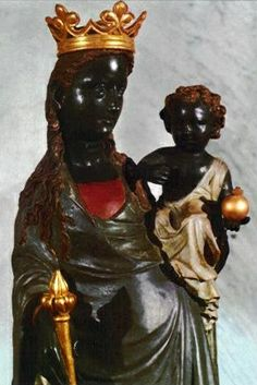 statue of Our Lady of Good Deliverance (the Black Madonna Divine Mother, Mother Mary, Religious Icons, Religious Art, Black Jesus, White Jesus, La Madone, Mystique, Virgin Mary