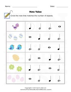 Music Worksheets Easter Note Value 001 Learning Music Notes, Music Math, Music Classroom, Music Education, Music Theory Games, Music Theory Worksheets, Music Lessons For Kids, Music For Kids, Art Lessons