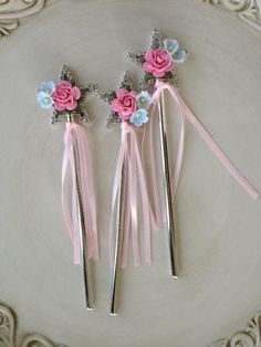 Shabby Chic Magic Wands for Princess Birthday Party by JeanKnee, $8.00