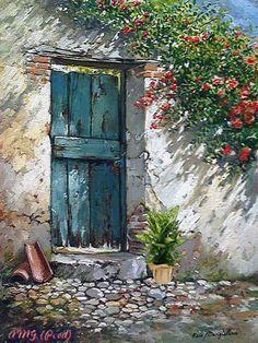 Photos from Francesco Mangialardi (oilpaints) on Myspace Urbane Kunst, Old Doors, Painting Inspiration, Portrait Inspiration, Painting & Drawing, Watercolor Paintings, Watercolors, Acrylic Paintings, Art Drawings
