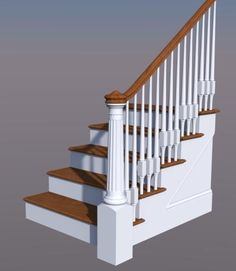 Best Wood Railing With Round Tapered Spindles Google Search 400 x 300