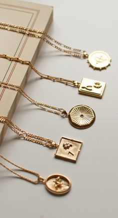 Trendy medallion necklaces that are perfect for layering. Each charm pendant tel. - Trendy medallion necklaces that are perfect for layering. Each charm pendant tells a story, your st - Dainty Jewelry, Cute Jewelry, Silver Jewelry, Jewelry Accessories, Fashion Accessories, Fashion Jewelry, Vintage Accessories, Silver Rings, Star Jewelry