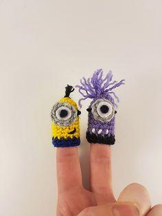 Minion inspired finger puppets - free crochet pattern by Helloseattle Crochet