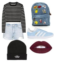 """""""Untitled #21"""" by ettadance56 ❤ liked on Polyvore featuring Topshop, TIBI, adidas Originals and Vans"""