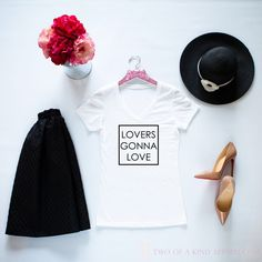 The perfect Tee for Valentine's Day from Two of a Kind Apparel! Available for men, women and children.