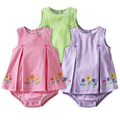 6de0479f0 Carter's Checkered and Embroidered Sunsuit - Baby. Cute. Newborn Outfits,  Triplets, Kohls