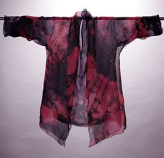 Diane Katz Designs: Two Silk Organza Hand-Dyed Shawl Collared Long Jac...