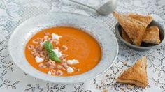 Gazpacho met grijze garnalen en geitenkaas - Vtm koken - Jeroen Meus !