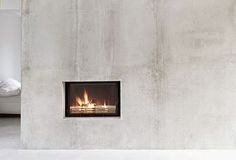 Love this house | Concrete, white + pale wood (via Bloglovin.com )