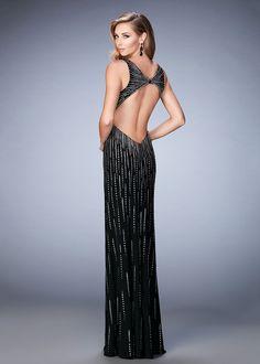 La Femme 22305 Radiant Stud Embellished Jersey Prom Dress