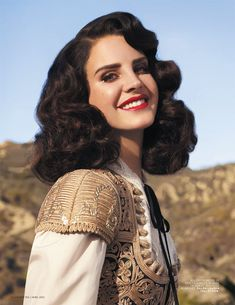 Lana Del Rey Gets Romantic for L'Officiel Paris' April 2013 Cover Shoot | Fashion Gone Rogue: The Latest in Editorials and Campaigns. HAIR
