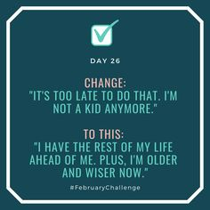 """Day Change: """"I'm jealous my friend can do it."""" To this: """"I can learn from my friends and we can support each other. February Challenge, Im Jealous, How To Gain Confidence, My Friend, Friends, Talking To You, Of My Life, Sentences, I Can"""