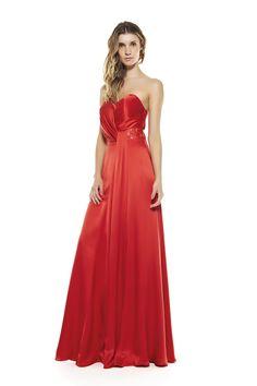 Madrinhas de casamento: Vestido de festa vermelho