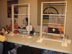Free plans for building a small Navajo style loom and a link to purchase plans for a larger loom from another source.