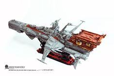 Cool Lego, Cool Toys, Awesome Lego, Space Pirate Captain Harlock, Octopus Drawing, Lego Universe, Lego Creator Sets, Lego Spaceship, Lego Mechs