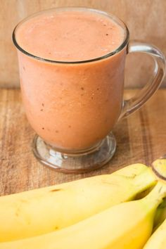 Frozen Banana, Watermelon, Orange Smoothie Drink #recipes #foodrecipes