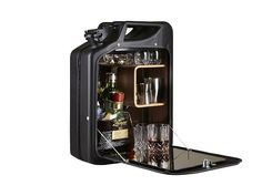 Bar Cabinet by One Copenhagen. Perfect for a man cave or garage bar. Jerry Can Mini Bar, Fuel Bar, Wall Mounted Bar, Ammo Cans, Sustainable Gifts, Diy And Crafts, Canning, The Originals, Cool Stuff