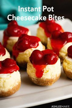 These instant pot cheesecake bites are incredibly quick and easy to make and have an amazing texture. They are easy to change up with different flavors too! # instant pot cheesecake recipes Instant Pot Cheesecake Bites Recipe and Videos Brownie Desserts, Oreo Dessert, Mini Desserts, Easter Desserts, Healthy Desserts, Mini Cheesecake Bites, Instant Pot Cheesecake Recipe, Cheesecake Recipes, Instapot Cheesecake