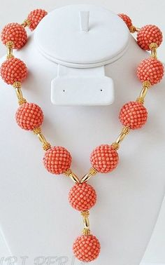 Gorgeous Peach Coral Beads Exclusively For Nigerian Brides....