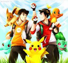 pokemon go! Dan and Phil XD credit to Pozzaple or I hate apples