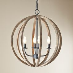 Weathered Oak Chandelier