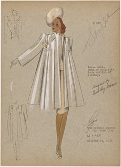 Loose coat. From New York Public Library Digital Collections.
