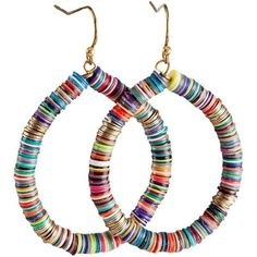 Bohemian Multi-Colored Sequin Hoop Gold Earrings SPUNKYsoul Collection ($17) ❤ liked on Polyvore featuring jewelry, earrings, gold jewelry, bohemian earrings, colorful earrings, boho earrings and multi colored earrings
