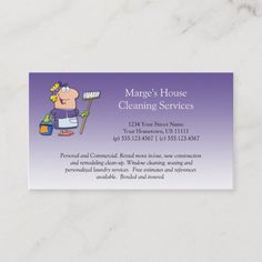 Purple Cartoon Maid House Cleaning Customer Loy Loyalty Card - Look at these wonderful designs by dmboyce. Commercial Cleaning Services, House Cleaning Services, Cleaning Business Cards, Laundry Service, Street Names, Window Cleaner, Business Card Size, Custom Cards, Clean House