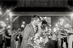 Sparkler exit (Photo by Tracy Enoch Photography)