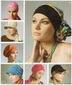 McCalls Sewing Pattern 6521 Misses Headwrap Hats Turban Chemo Hat Misses XS -L Hat Patterns To Sew, Mccalls Sewing Patterns, Clothing Patterns, Head Wrap Headband, Wrap Pattern, Scrub Hats, Textiles, Head Wraps, Couture
