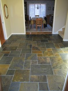 Slate Tile Entryway By Creative Tile Works