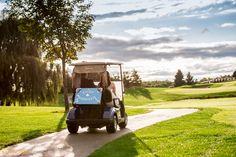 Nobleton Lakes Gold Course wedding photos | Golf cart | Bride and Groom