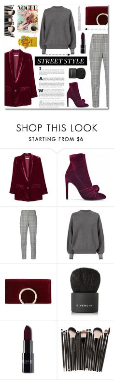 """Budapest street style"" by norairh ❤ liked on Polyvore featuring MANGO, Giuseppe Zanotti, Alexander Wang, Jessica McClintock and Givenchy"