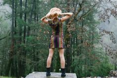 Short Day Tripper Hoodie Dress Pachamama Brown by BlondeVagabond