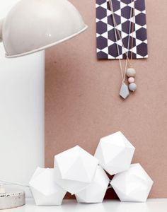 White paper lights, another project for dark winter nights...