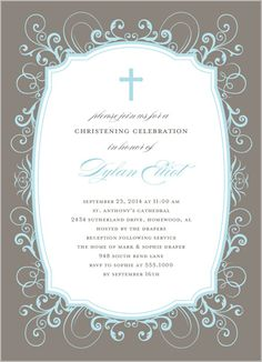 Baptism invitation Christening Pinterest Baptism invitations