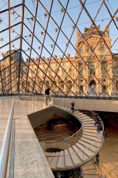 dekoration eingang View of the Louvre Museum from the Pyramid, Paris - Get or Sell a great travel g. - View of the Louvre Museum from the Pyramid, Paris Get or Sell a great travel guide to Paris, at - City Aesthetic, Travel Aesthetic, Aesthetic Vintage, Aesthetic Black, Paris France, The Places Youll Go, Places To Visit, Museum Paris, Louvre Paris