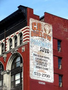 C. O. Bigelow ghost sign